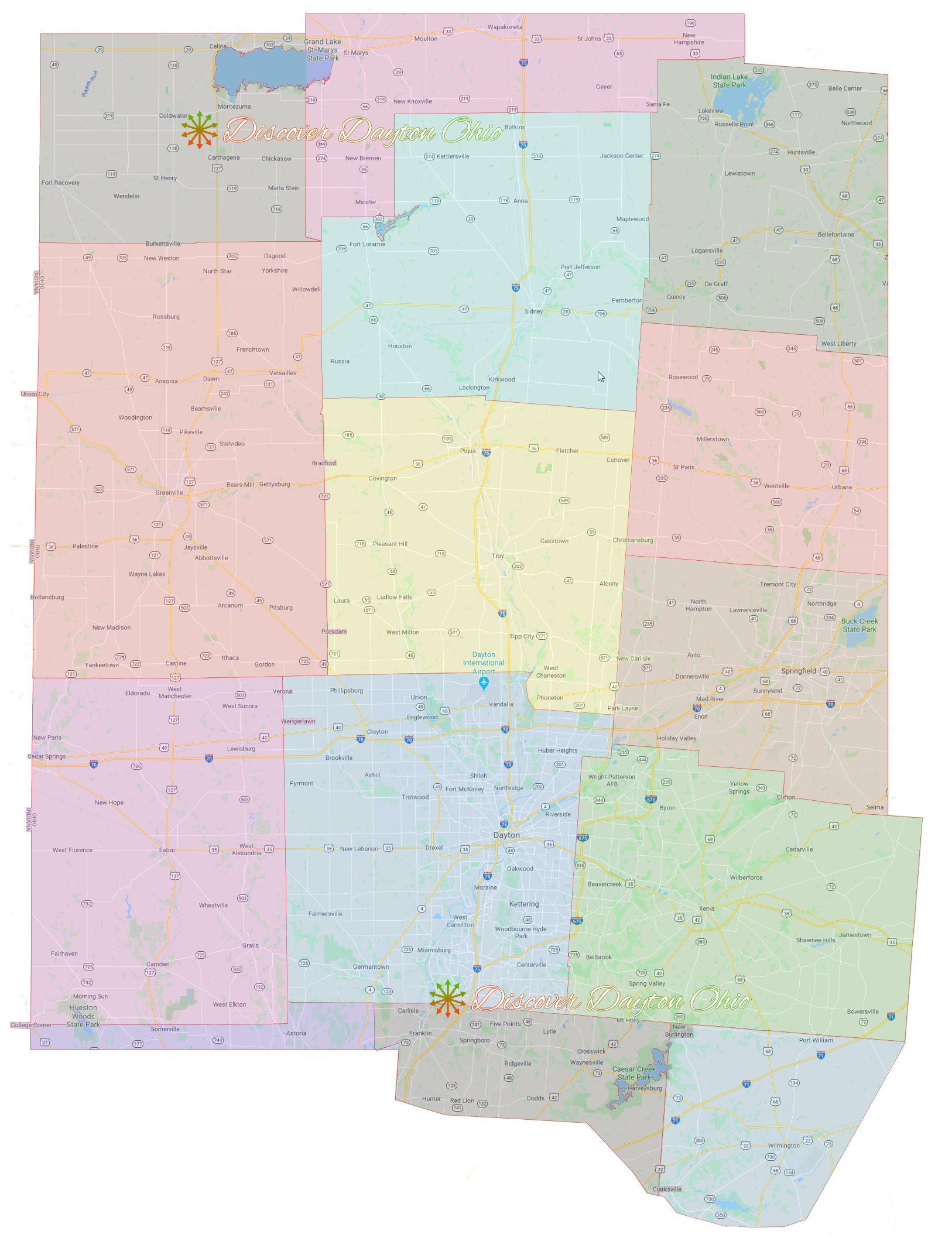 Discover Dayton Ohio Area Map